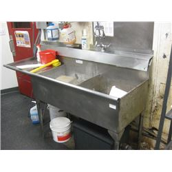 6 FT STAINLESS DOUBLE SINK