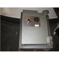 APPROX 2 FT OFFICE FLOOR SAFE - LOCKED OPEN NO COMBO