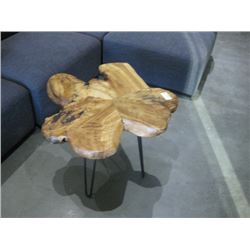 WOOD TOP COFFEE TABLE