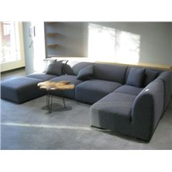 6PC GREY MODULAR COUCH SET