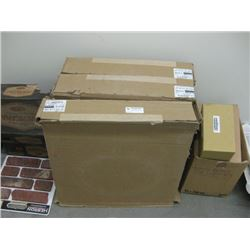 3 BOXES JOHNSONITE BLACK RUBBER BASEBOARD