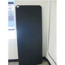 LIFETIME BLACK 6FT PLASTIC FOLDING TABLE