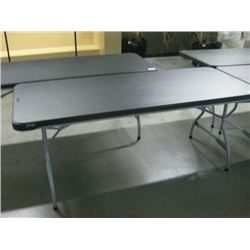 LIFETIME BLACK 6FT PLASTIC FOLDING TABLE