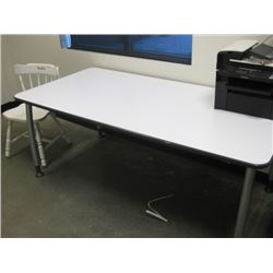 WHITE 3X6 WORK TABLE
