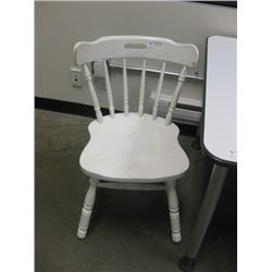 WOOD KITCHEN CHAIR WHITE