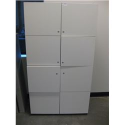 8 CUBBIE STORAGE WITH DOORS