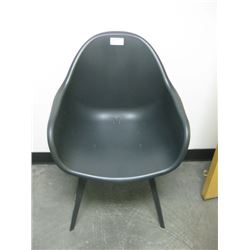 BLACK PLASTIC BUCKET CHAIR