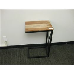 WOOD TOP SIDE TABLE