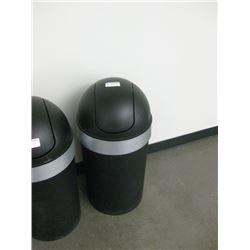 PLASTIC BLACK GARAGE CAN