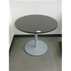 36 INCH BROWN ROUND OFFICE TABLE
