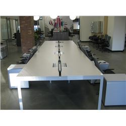 HERMAN MILLER LARGE WORK TABLE 8 UNITS 29X54 EACH W/ POWER