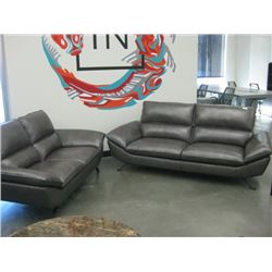 VINYL COUCH AND LOVESEAT