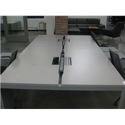 HERMAN MILLER LARGE WORK TABLE 4 UNITS 29X54 EACH W/ POWER