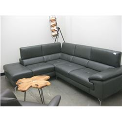 VINYL SECTIONAL WITH ADUSTBLE HEADREST