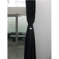 BLACK PANEL CURTAIN ROOM DIVIDER
