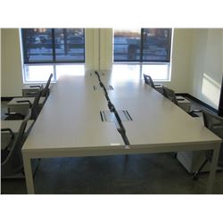 HERMAN MILLER LARGE WORK TABLE 6 UNITS 29X54 EACH W/ POWER