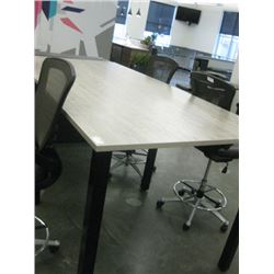 4 X 8 FT OFFICE STOOL HEIGHT WORK TABLE