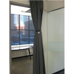GREY CURTAIN PANEL ROOM DIVIDERS