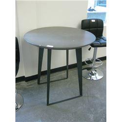 36 INCH GREY BAR TABLE