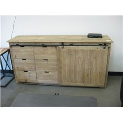 70 INCH WOOD BUFFET STYLE ENTERTAINMENT STAND