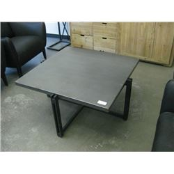 36 INCH SQUARE METAL WRAPPED COFFEE TABLE