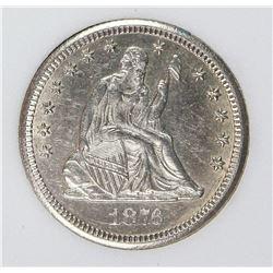 1876-CC SEATED QUARTER