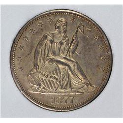 1877-CC SEATED HALF DOLLAR