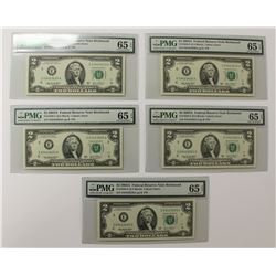 (5) 2003-A $2.00 RICHMOND FEDERAL RESERVE NOTES