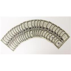 25 PIECES 1935-A $1.00 SILVER CERTIFICATES