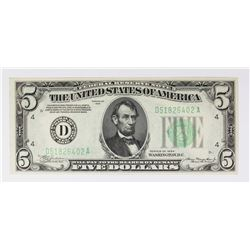 1934 $5.00 CLEVELAND FEDERAL RESERVE NOTE