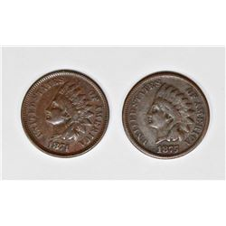 (2) INDIAN CENTS