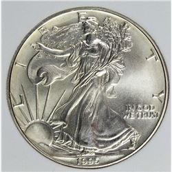 1995 RARE! AMERICAN SILVER EAGLE