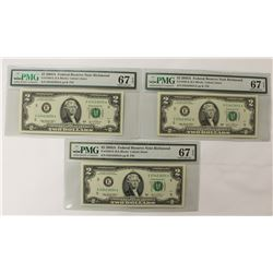 (3) 2003-A $2.00 RICHMOND FEDERAL RESERVE NOTES