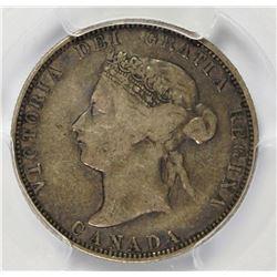1875-H CANADA QUARTER