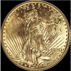1920 $20.00 ST. GAUDENS GOLD