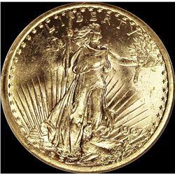 1907 $20.00 ST. GAUDENS GOLD