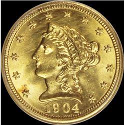 1904 $2.50 GOLD LIBERTY