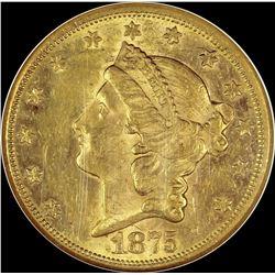 1875-CC $20.00 GOLD LIBERTY
