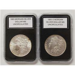 1883-O AND 1883 MORGAN SILVER DOLLARS