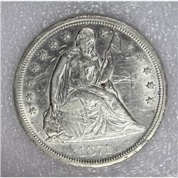 1871 SEATED DOLLAR