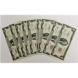 10 PCS. 1953-C $2.00 NOTES