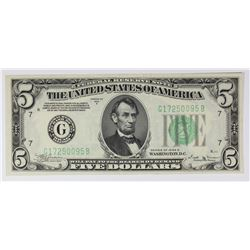 1934-B $5.00 CHICAGO FEDERAL RESERVE NOTE