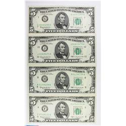 1963 $5.00 FEDERAL RESERVE GEM UNC