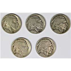 BUFFALO NICKEL LOT: