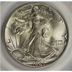 1941 WALKING LIBERTY HALF DOLLAR PCGS MS 65