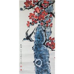Li Shouzhen 1909-2003 Chinese Watercolor Swallow