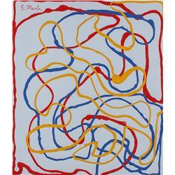 Brice Marden American Modernist Oil on Canvas