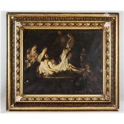 Rembrandt Oil on Canvas of Christ