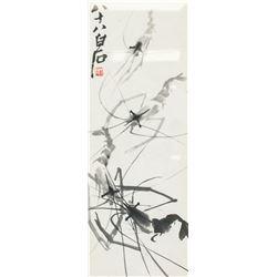 Qi Baishi 1864-1957 Chinese Ink Shrimp Framed