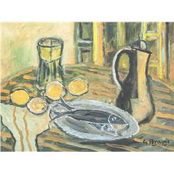 Georges Braque French Cubist Oil on Canvas Still